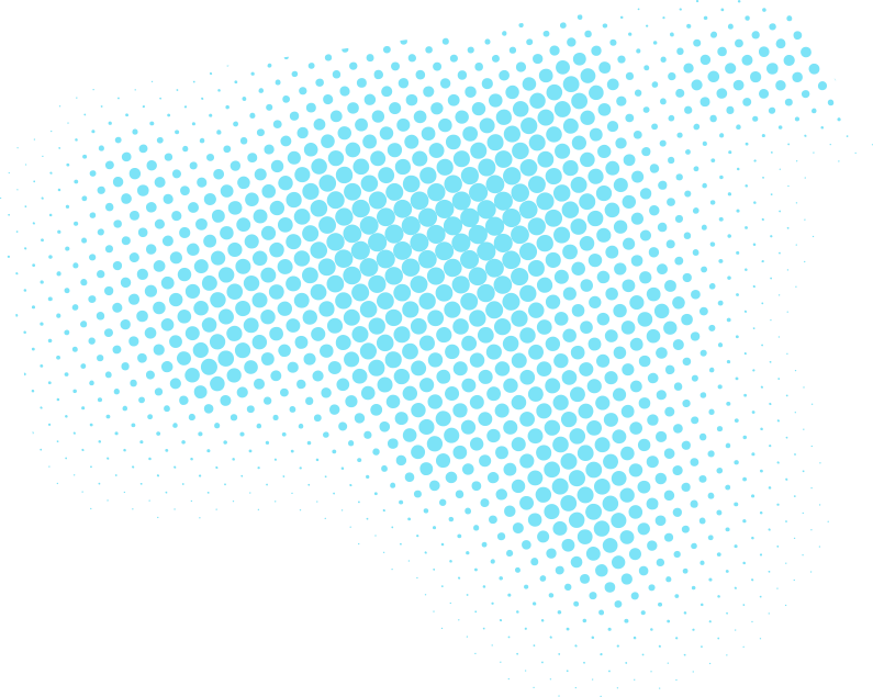 Media and graphic design light blue dots