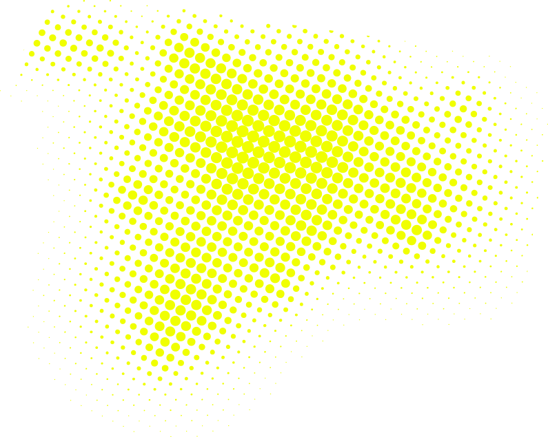Media and graphic design yellow dots