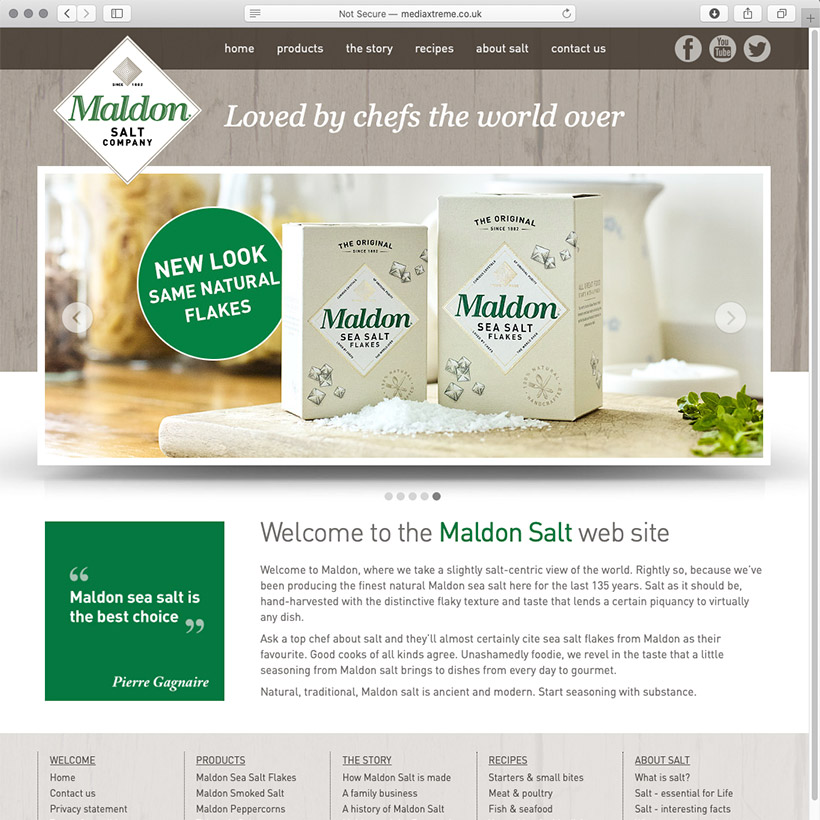 Maldon Salt website design