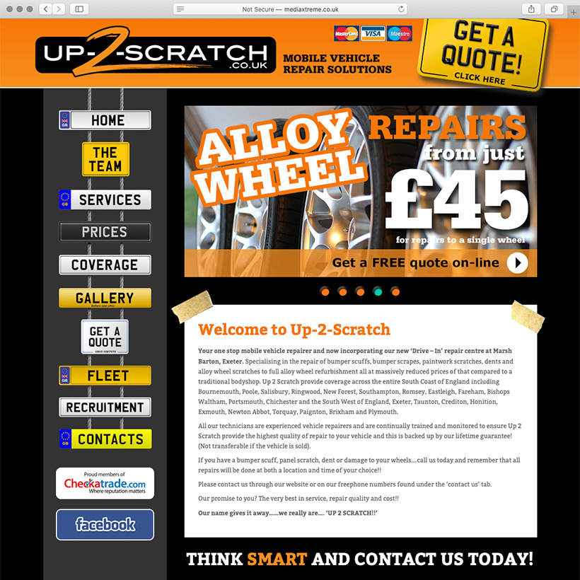 Up-2-Scratch website